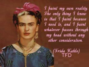 frida kahlo pic and quote