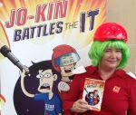 Jo-kin battles the IT Karen Tyrrell