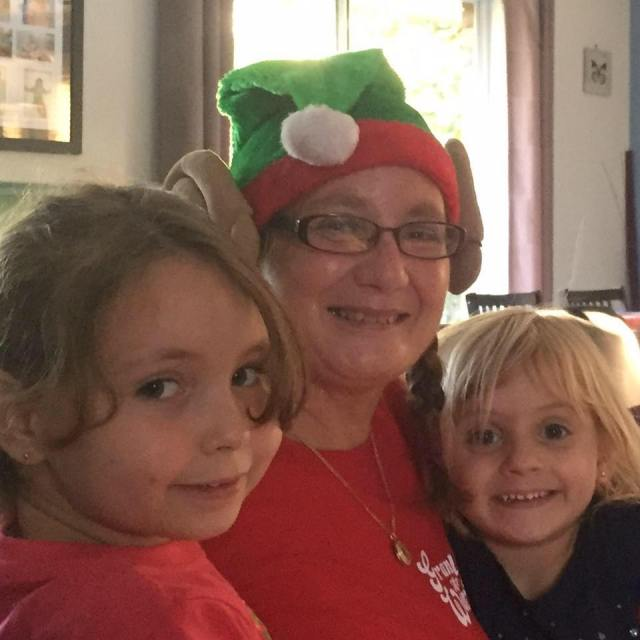 Christmas day 2015 with Maria and Heather