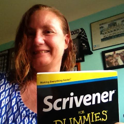 jill with Scrivener for dummies