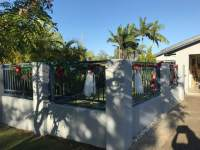 Christmas 2017 front fence decorated