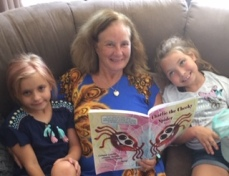 granma reading charlie to the girls