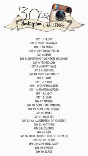 30 day instagram challenge March 19