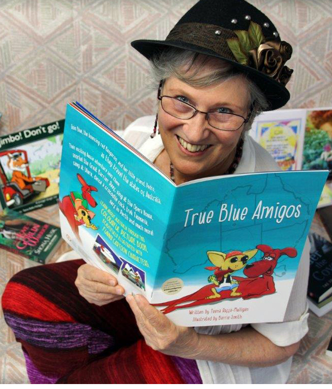 teena with picture book