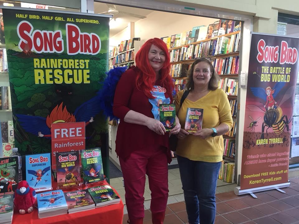 Karen Tyrrell and me at Big B Bookshop