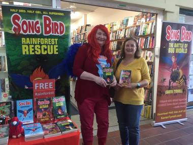 Karen Tyrrell and me at Big B Bookshop
